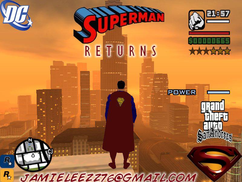 Скачать мод супермена для gta san andreas
