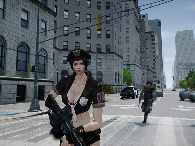 Gta sexy cop girl 1