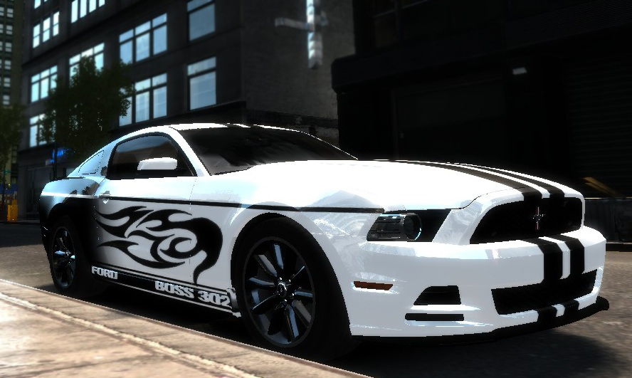 a quick paintjob i made for smokey8808s 2013 ford mustang boss 302 all credit goes to him his mods always deliver readme with installation instructions