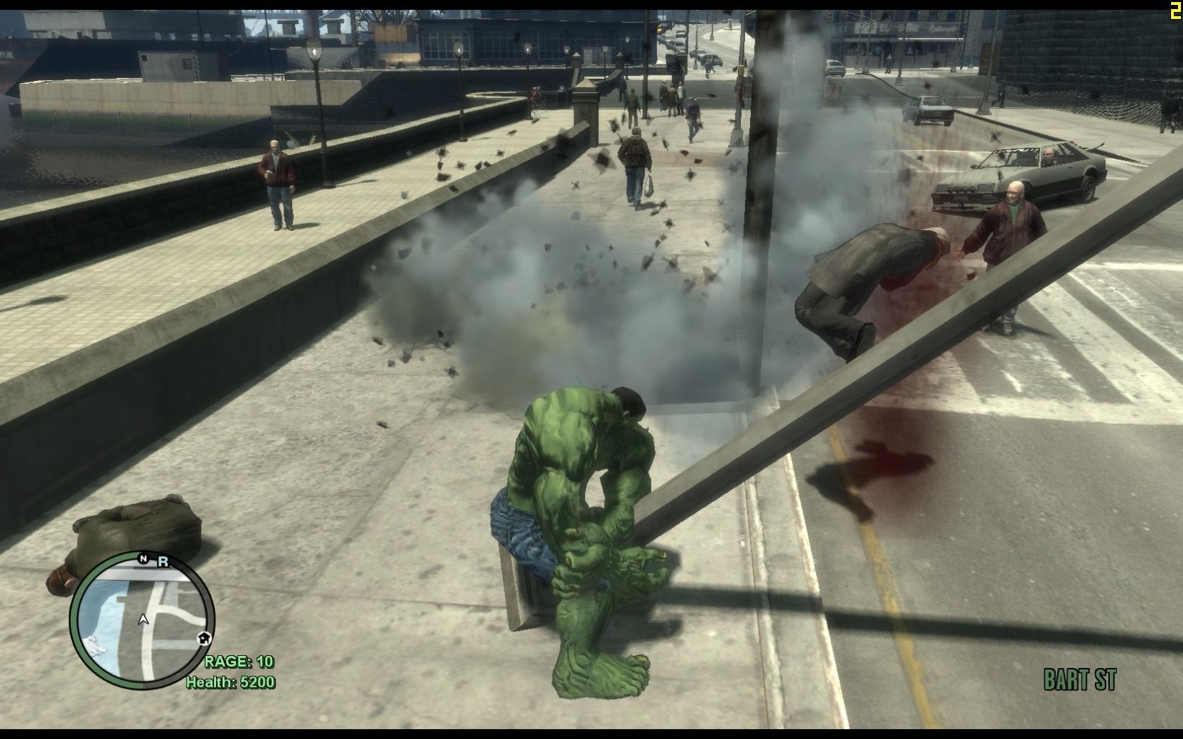 Gta Iv The Incredible Hulk Script Mod Insanegaz Funnycat Tv