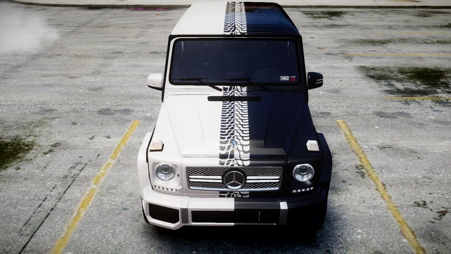 2013 mercedes benz g65 amg black white paintjob