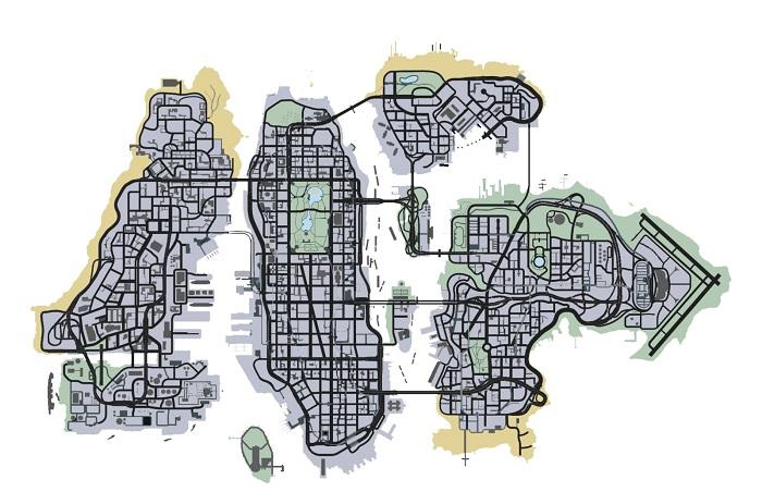 Liberty City Map GTA Gaming Archive Liberty City Map
