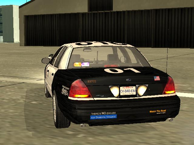 Ford Crown Victoria Los Angeles Police Departement Lapd Slicktop With Lapd Skin And Undercover Light