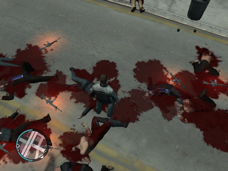 скачать мод на кровь на гта 4 - фото 7